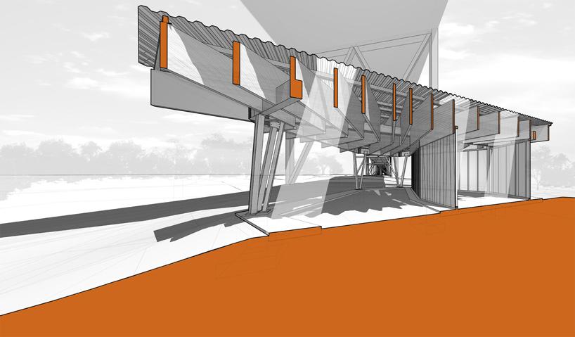 architecture section diagram line plot worksheet menomonee valley park pavilion