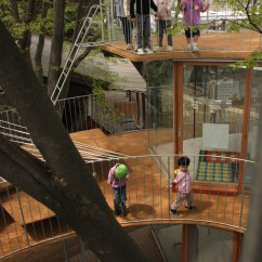 Kitchen Floor Mats Extra Large Sink Tezuka Architects: Ring Around A Tree