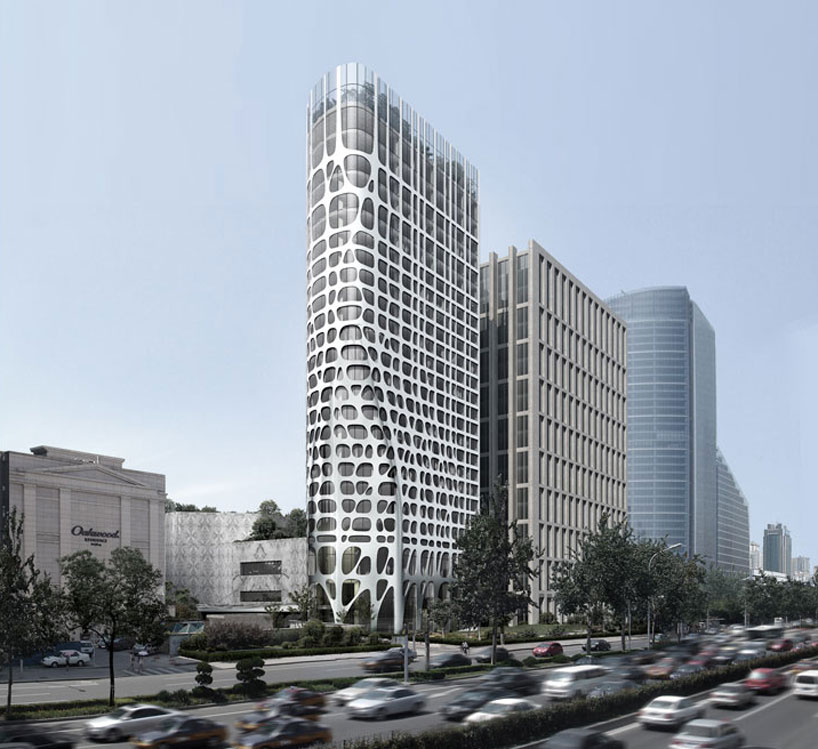 MAD architects conrad hotel beijing nearing completion