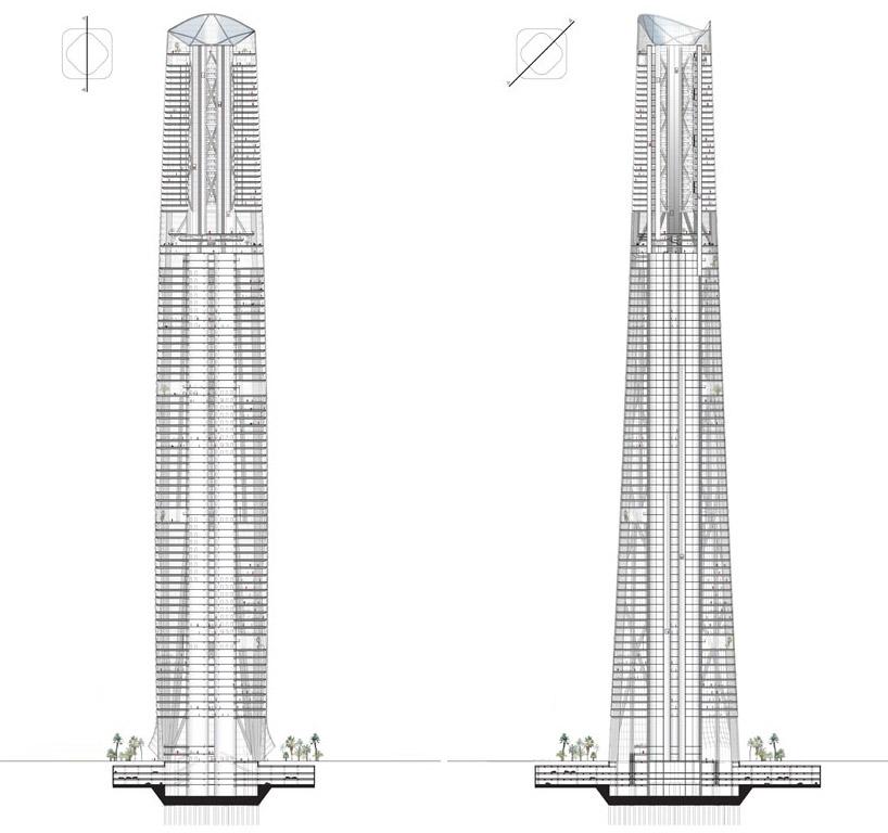 sun diagram elevation 2006 ford e350 brake light wiring henn architekten: haikou tower