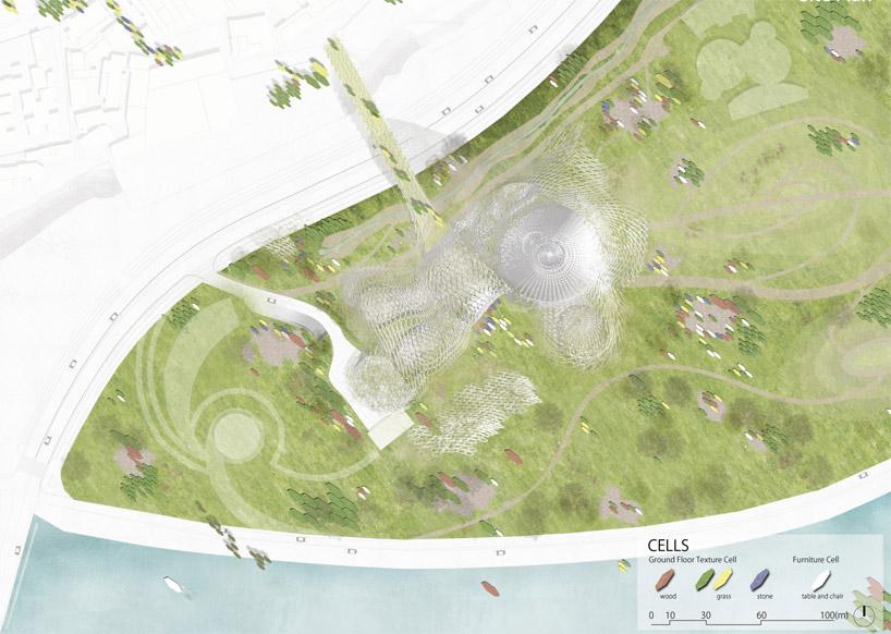architectural program diagram and 2 chamberlain garage kengo kuma + associates: new taipei city museum of art