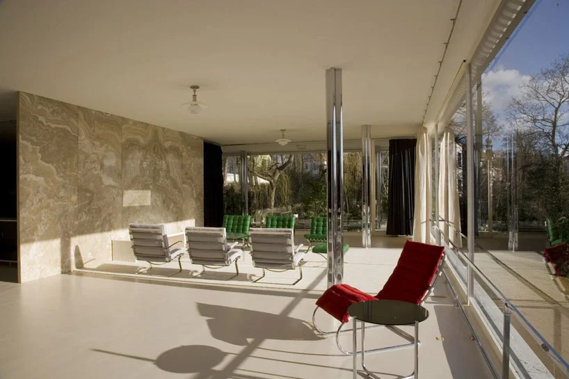 mies van der rohe barcelona chair upholstered dining rohe: villa tugendhat