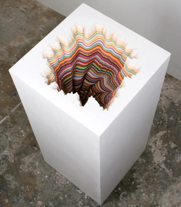 Jen Stark Hand Cut Paper Sculptures