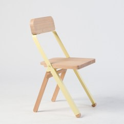 Brown Wooden Folding Chairs Tot Sprout High Chair Knauf Profile 3 4 View Collapsed