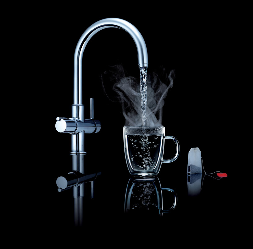 grohe red boiling hot water faucet