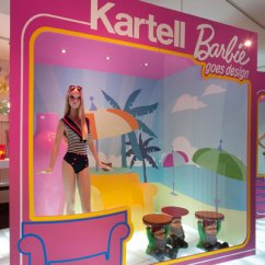 Louis Ghost Chair Red Leather Counter Chairs Barbie Goes Design With Kartell