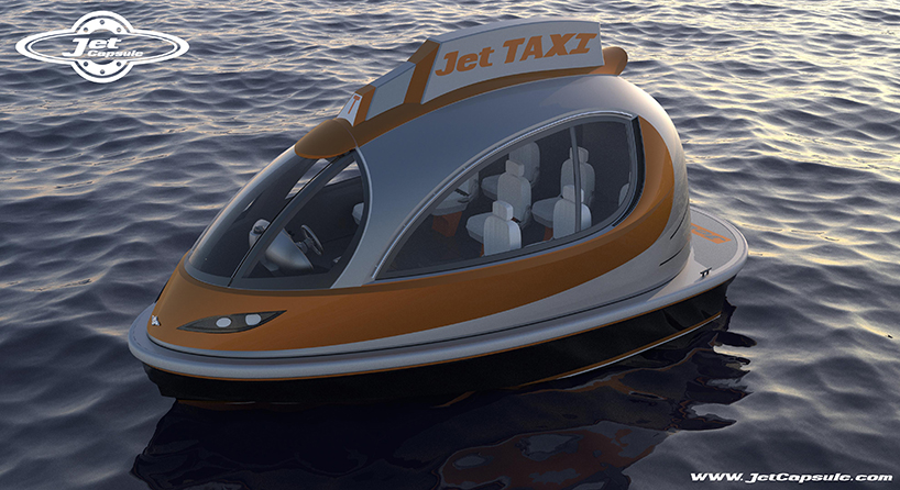 jet capsule water boats proposes private  taxi versions