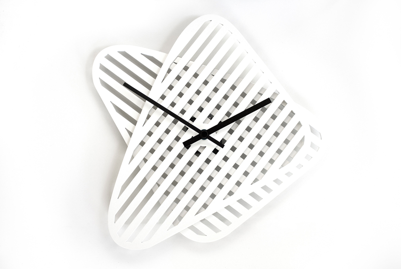 sophie adjustable shape wall clock by layla mehdi pour