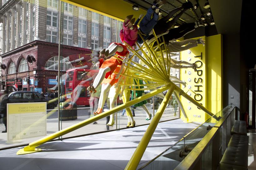 NEON Architects Riba Colour Mannequin Wheel Installation