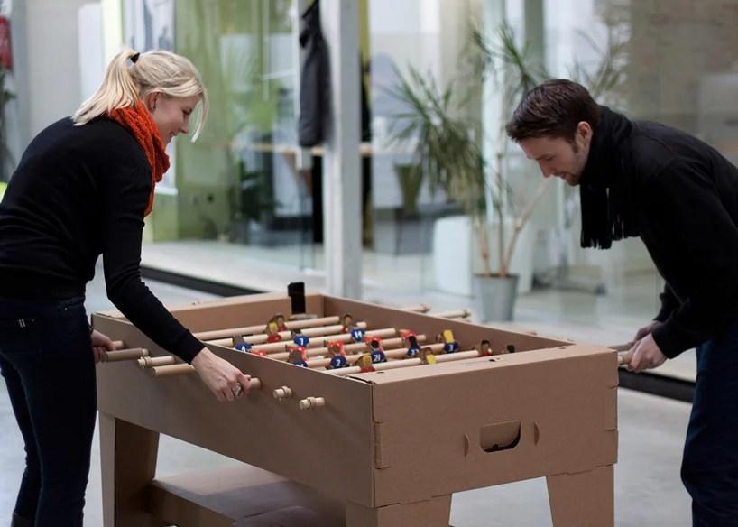 kartoni cardboard foosball table by kickpack
