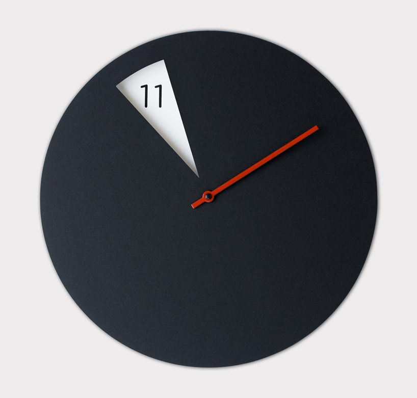 Sabrina Fossis Minimally Designed Freakish Wall Clock