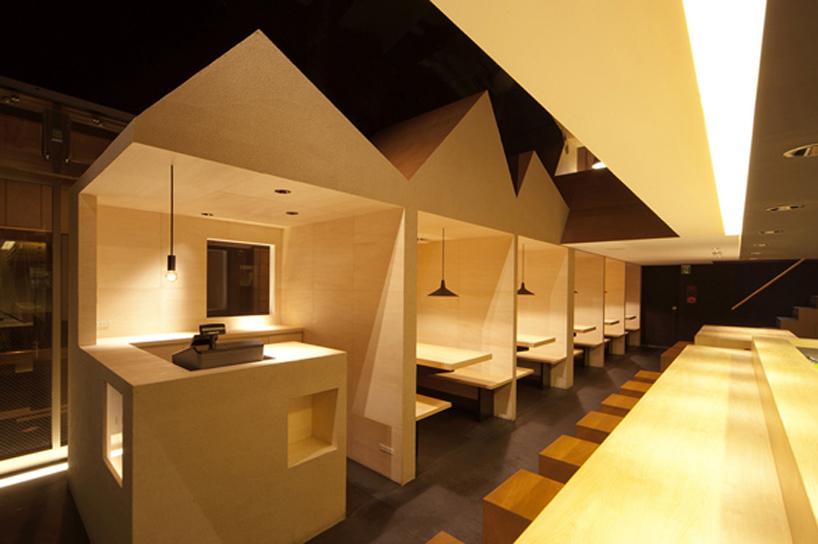 stile inserts nagaya structure into japanese ramen restaurant
