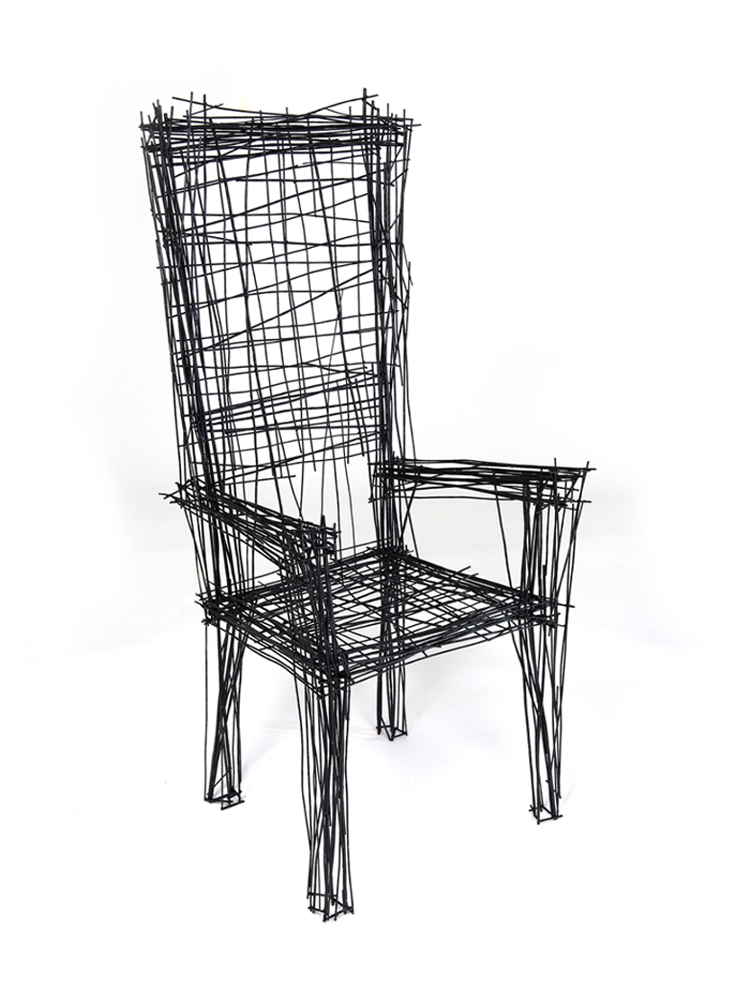 jinil park materializes drawing furniture series using wire
