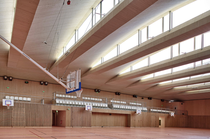 brisac gonzalez architects completes pajol sports center in paris