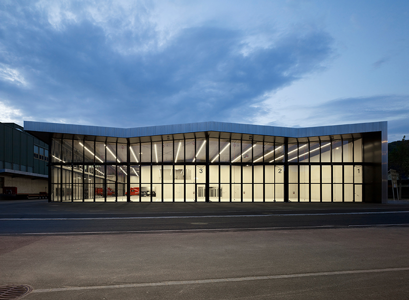 kit architects fire station in switzerland rises as a