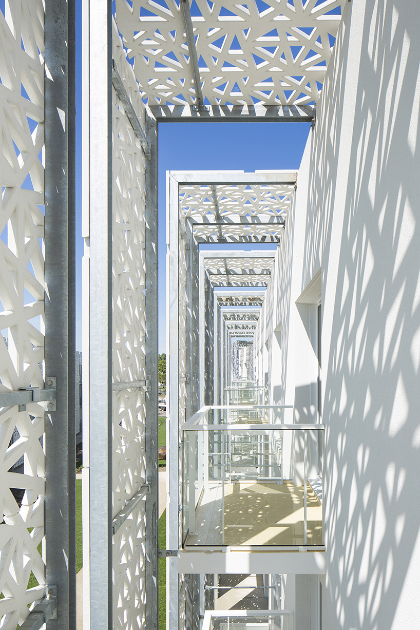 jacques ferrier architectures adds double faade to hotel