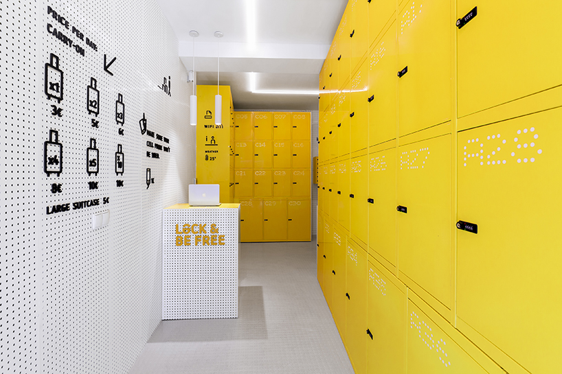 wanna one shapes madrids urban lockers following the leave your luggage live the city concept