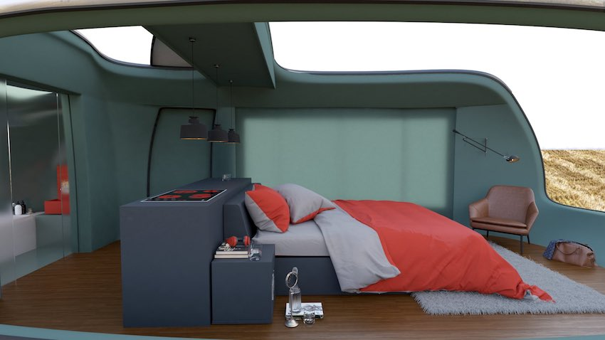 luxury camping pod concept influenced by THE NEW MINI