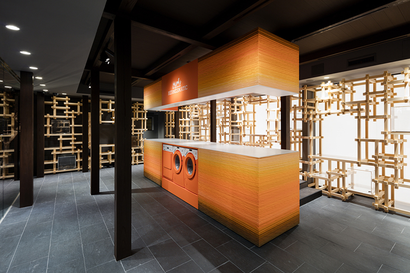 oniki design studios Herms popup store opens in japanese townhouse