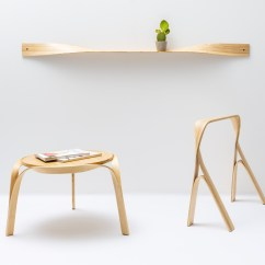 Folding Chair Bed Uk Light Blue Accent Chairs Bar Gantz Transforms Steam-bent + Twisted Wood Into Home Furniture