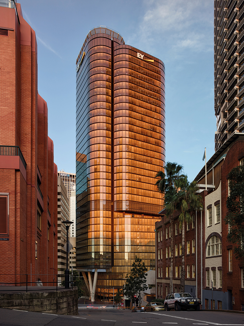 Fjmt Studio S Kinetic Tower Of Wood Transcends Grey