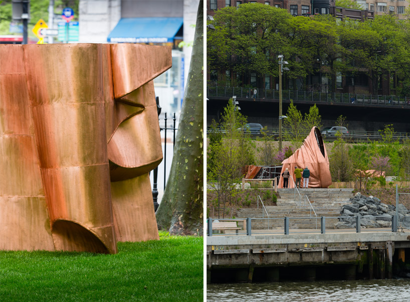 danh vo places full-scale deconstructed statue of liberty around NYC