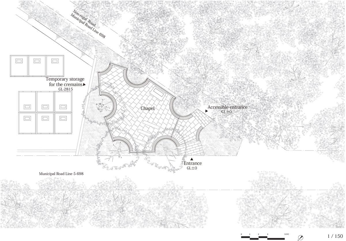NAP architects completes aluminum-clad sayama forest chapel