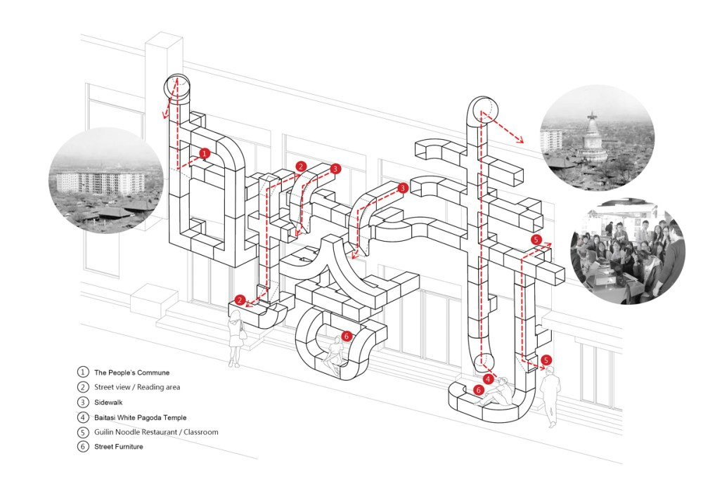 medium resolution of hvac ducts characterize tubular baitasi visitor center in beijing by pao