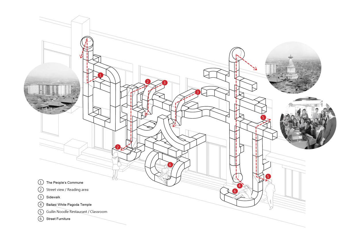 hight resolution of hvac ducts characterize tubular baitasi visitor center in beijing by pao