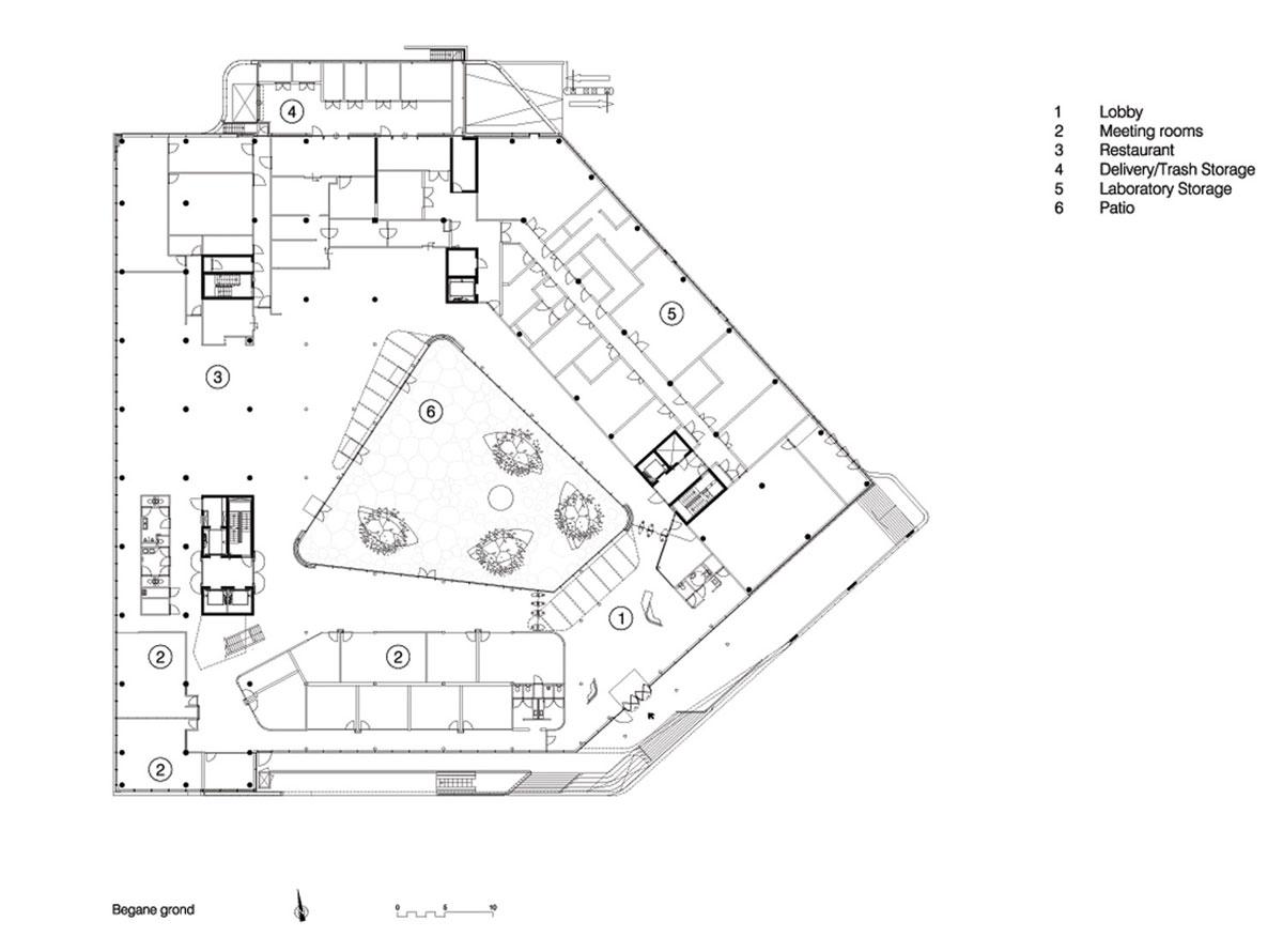 Unstudio Creates Transparent Work Environment At Mirai House