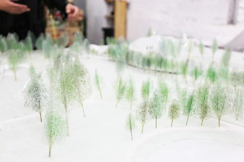 junya ishigami  studio MAKS to curve visitor center through park vijversburg