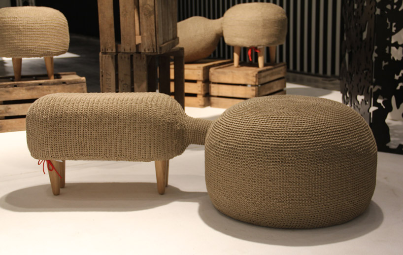 crocheted hemp farming furniture by sampling