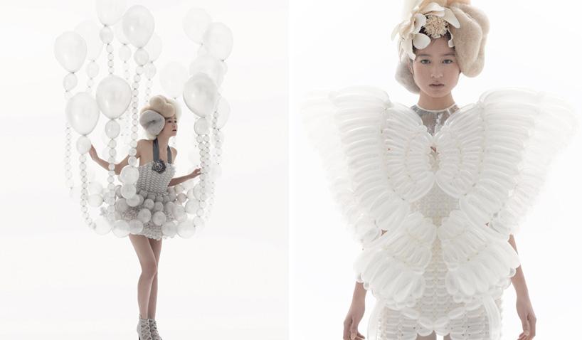 balloon dresses by rie hosokai and takashi kawada