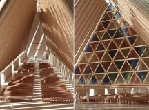 shigeru ban: christchurch NZ cardboard cathedral under ...