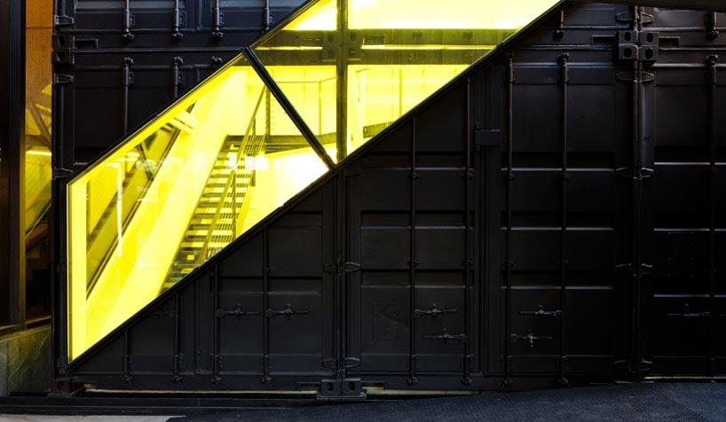 LOT EK Whitney Studio Shipping Container Installation