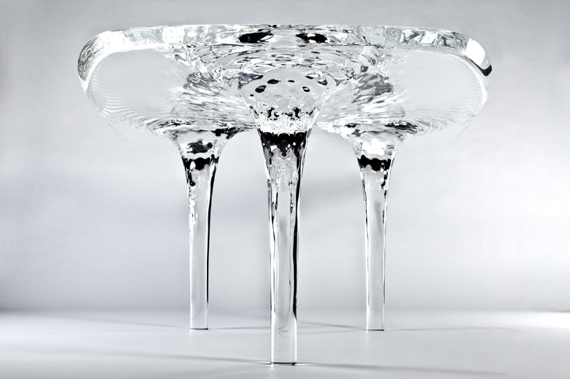zaha hadid: liquid glacial table