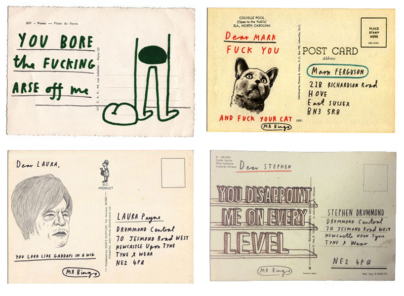 Abusive Postcards Hate Mail Project By Mr Bingo
