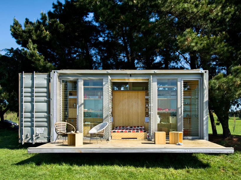 port-a-bach shipping container retreat by atelierworkshop