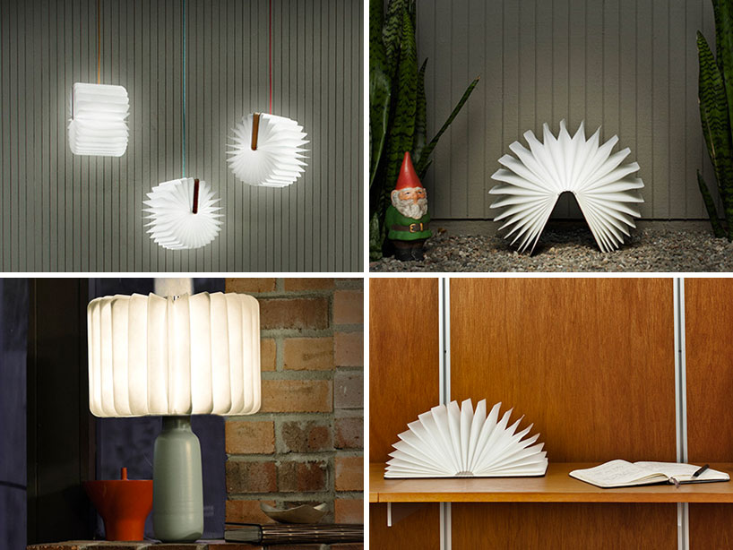 lumio unfolds from a book into a lamp