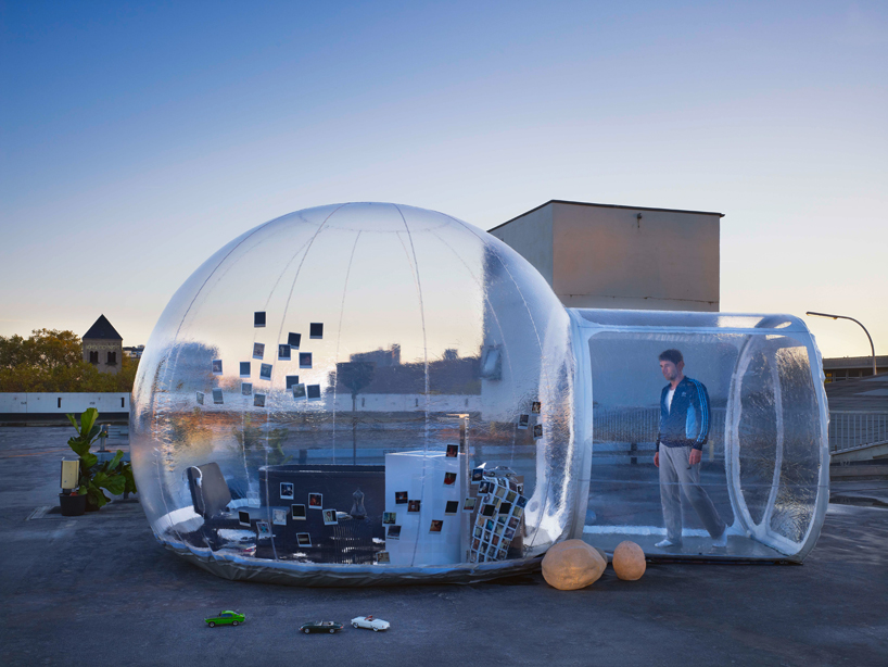 transparent mobile bathroom bubble