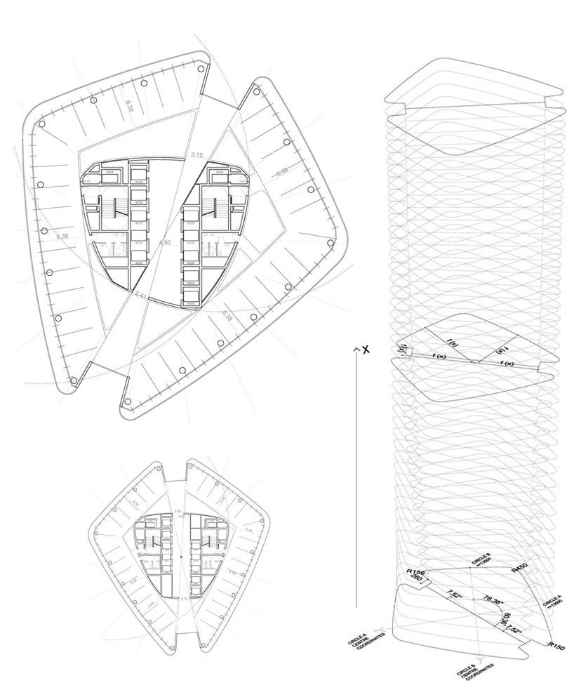 zaha hadid: office tower, citylife, milano
