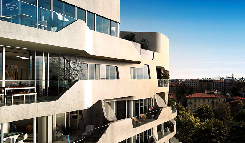zaha hadid citylife milano residential complex nearing completion
