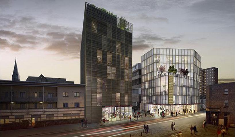 david adjayes design of hackney fashion hub has been granted permission