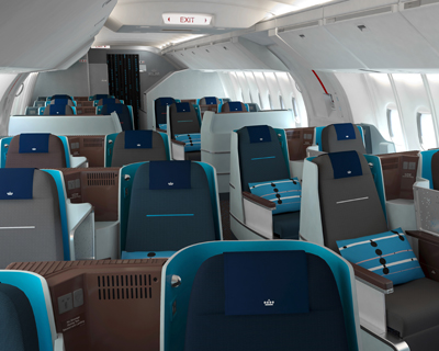 KLM airlines world business class interior design by hella