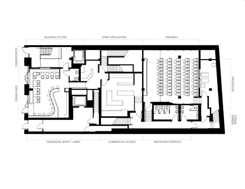 caliper studio: nitehawk cinema and apartments, brooklyn