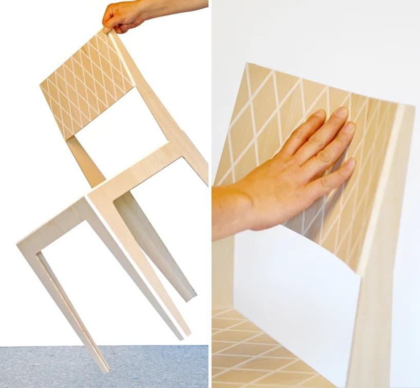 steel chair joints hydraulic tattoo rombo - a light flexible wood by j.c. karich
