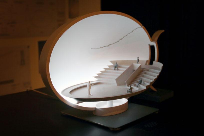 ingo maurer broken egg architectural installation for