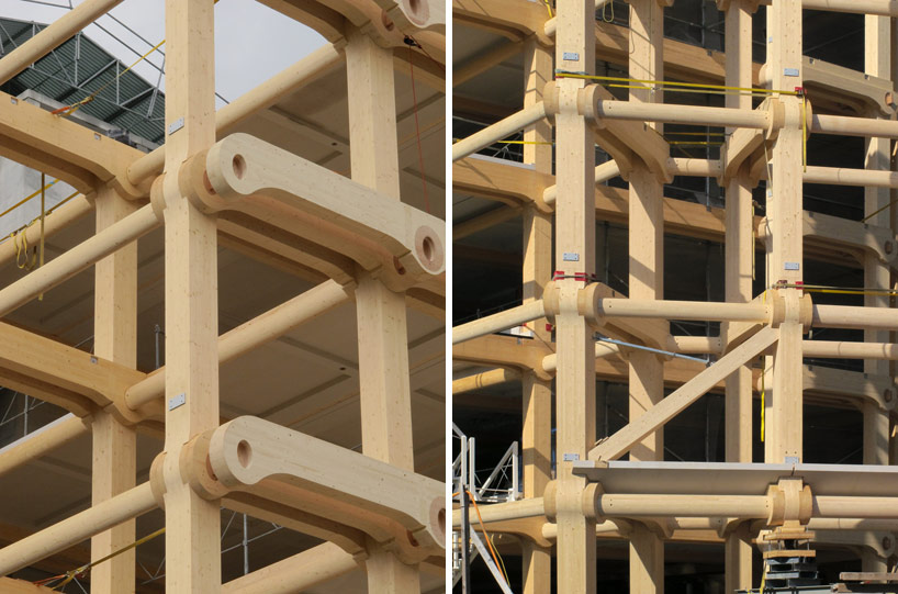 shigeru ban tamedia office building nearing completion