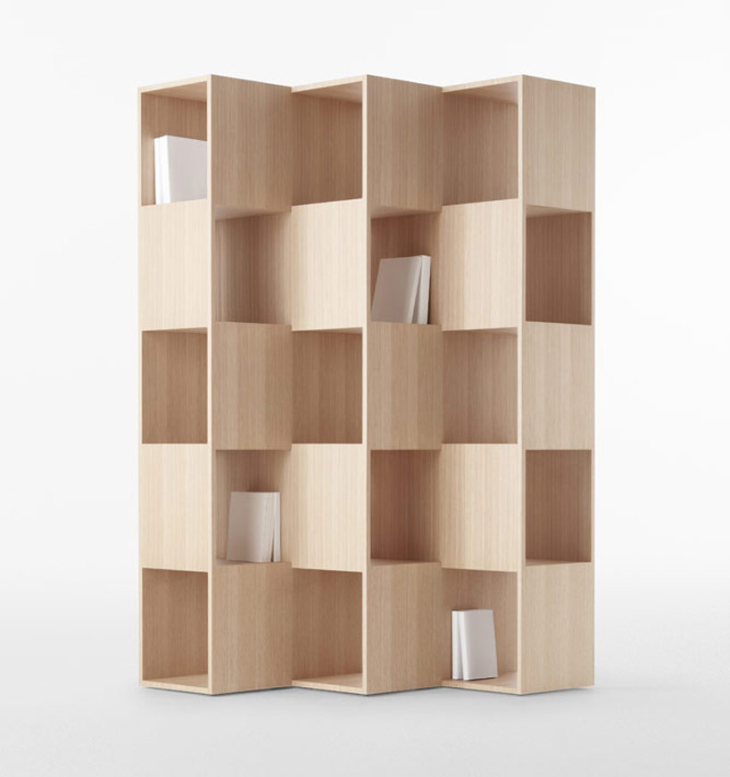 nendo book shelves