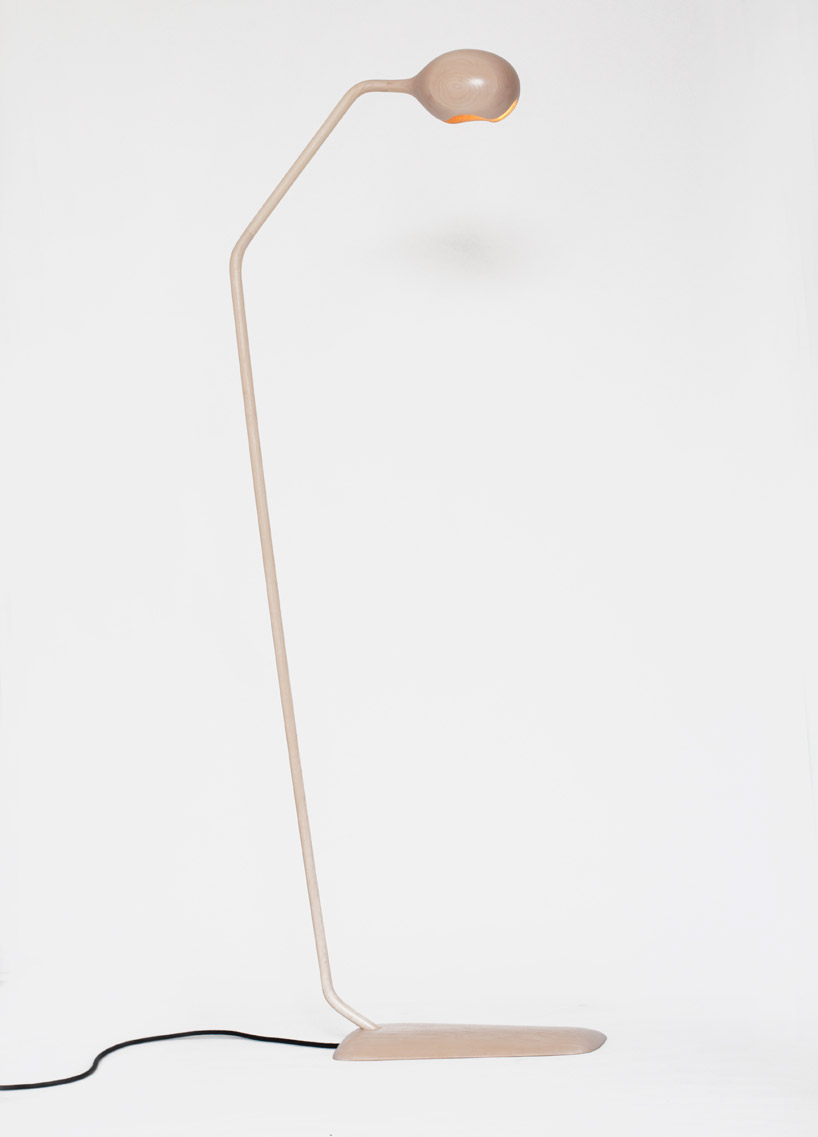 solid maple table lamps and light fixtures by loic bard